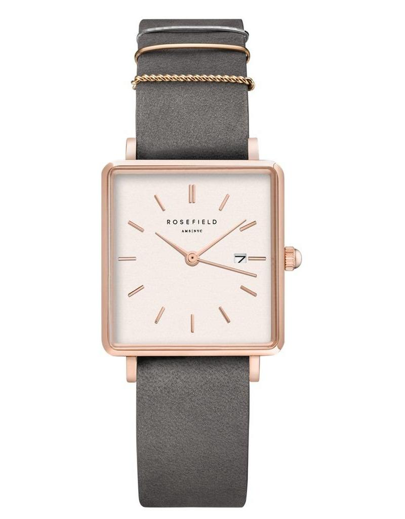 Rosefield The Boxy White Elephant Grey Rosegold - QWGR-Q12