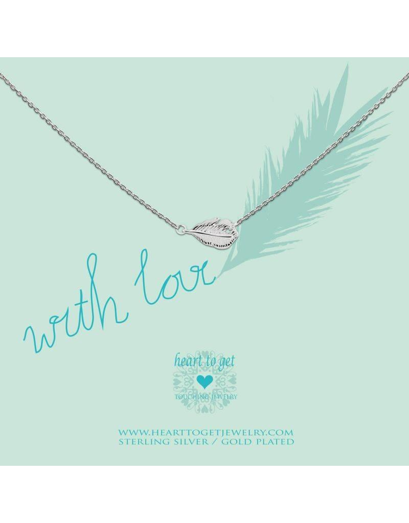 Heart to get Feather, With Love Silver - n43fea12s