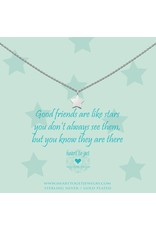Heart to get Good Friends Are Like Stars, Silver - n09sta11s