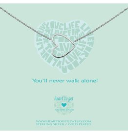 Heart to get Necklace Silver, You'll never walk alone  - n35bhe12s