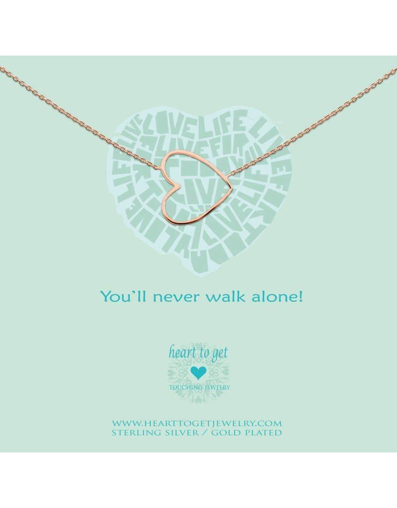 Heart to get You'll Never Walk Alone Rosegoud - n35bhe12r