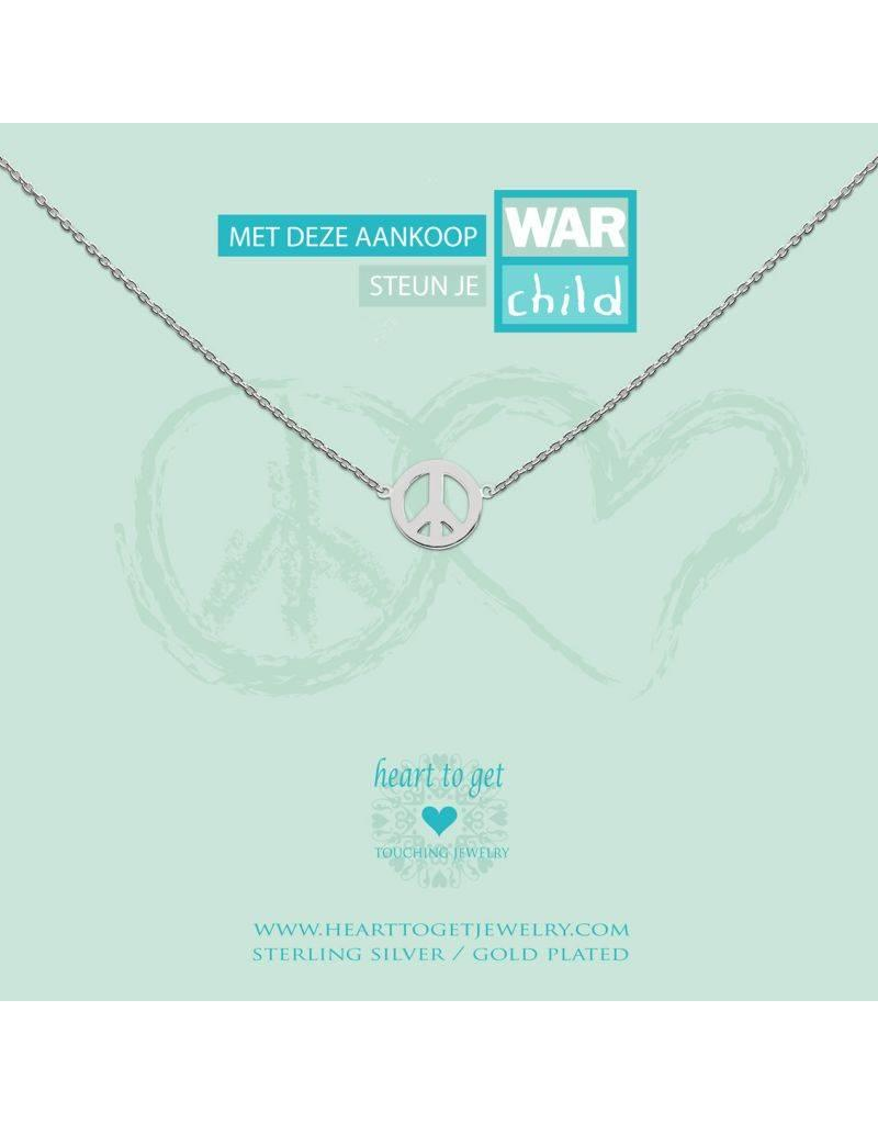 Heart to get Necklace World Peach Silver - N78WCH12S