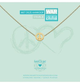 Heart to get Necklace Gold Warchild - N78WCH12G