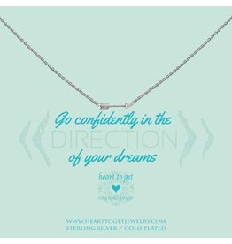 Heart to get Small Arrow Go Confidently in the direction of .. Silver - N249SAR15S
