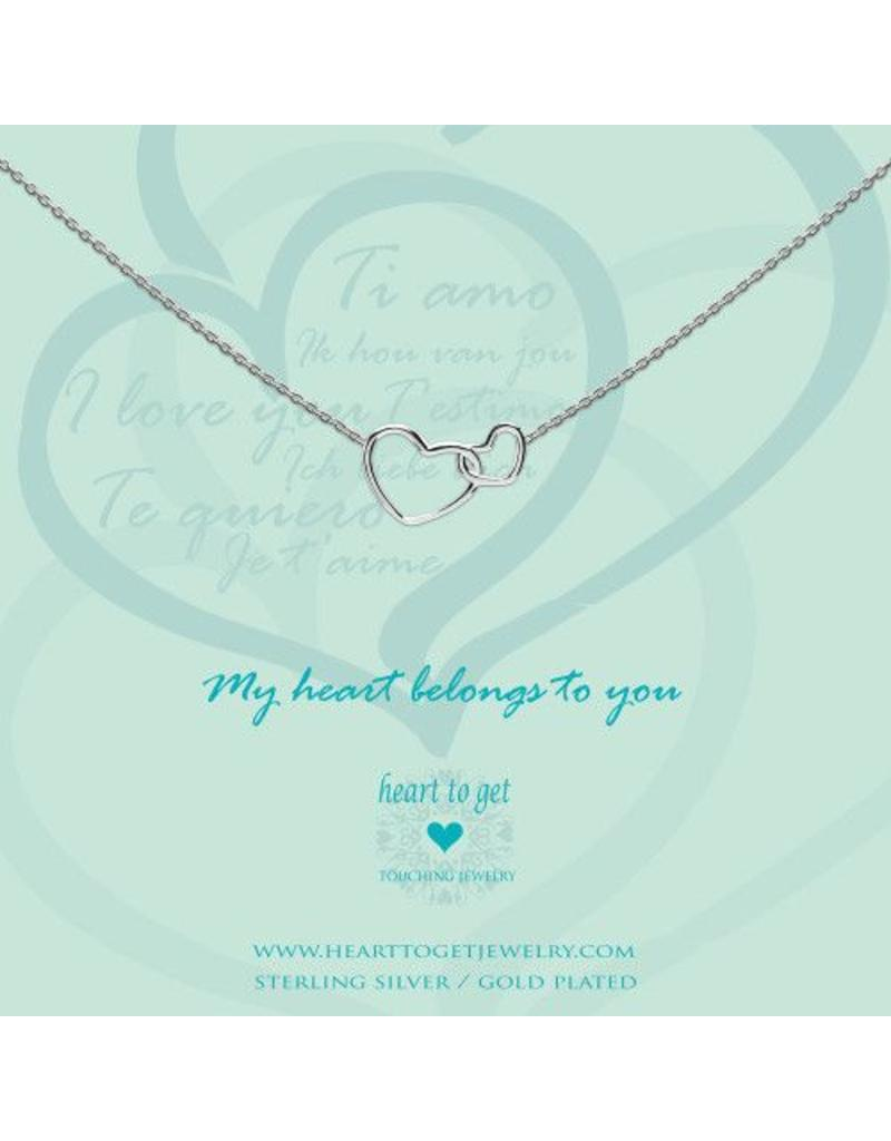 Heart to get Entwined Hearts, My Heart Belongs To You Silver - N244ENH15S
