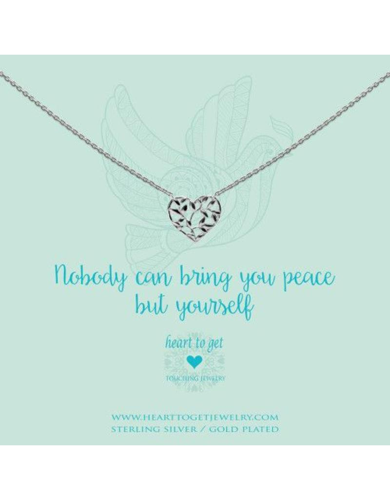 Heart to get Heart Shape Olive Tree, Nobody Can Bring You Peace But Yourself - N279HSO16S