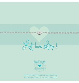 Heart to get Bracelet, Heart Zirkon, Let Love Shine! - B197HEZ14S