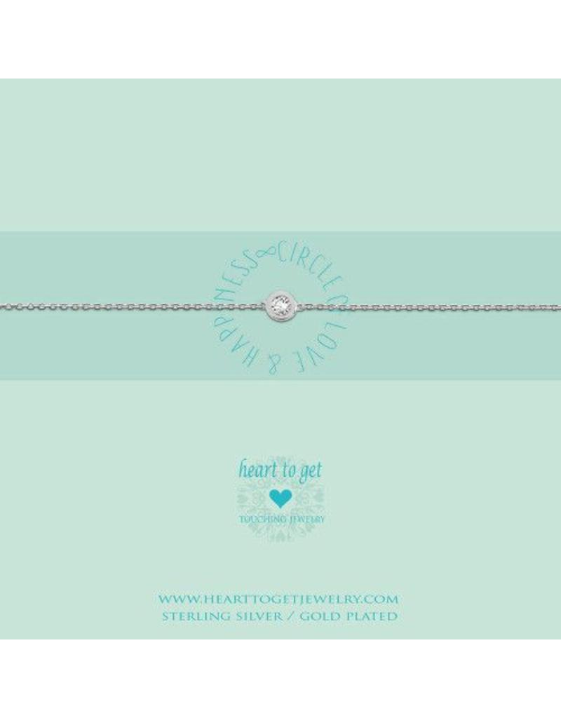 Heart to get Bracelet, Circle Zirkon, Circle Of Love & Happiness Silver - B199CIZ14S
