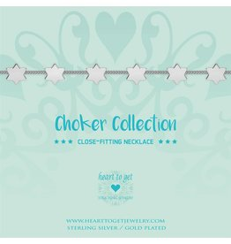 Heart to get Choker Silver With Stars - BO248CHST17S