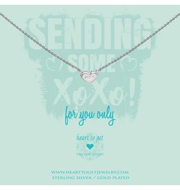 Heart to get Necklace Silver HeartXOX For You Only - N360HEA17S