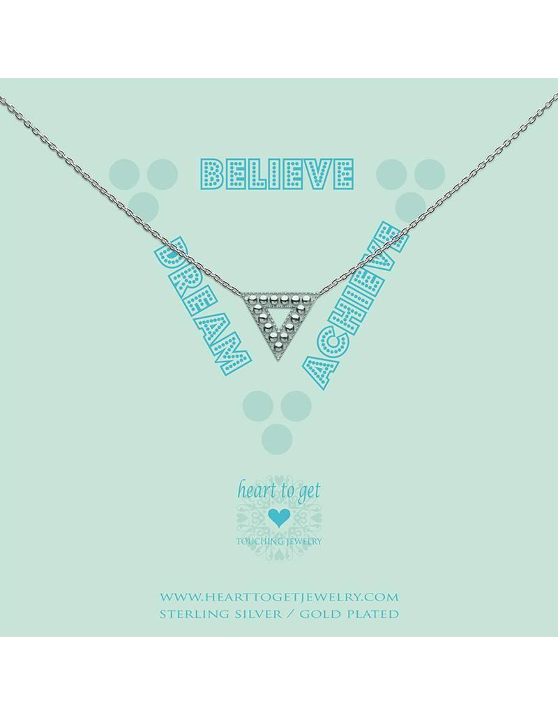 Heart to get Necklace Geomatric Triangle Dream Believer Achieve Silver - N373TRI17S
