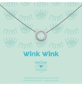 Heart to get Necklace Geomatric Circle Silver Wink Wink - N374CIR17S