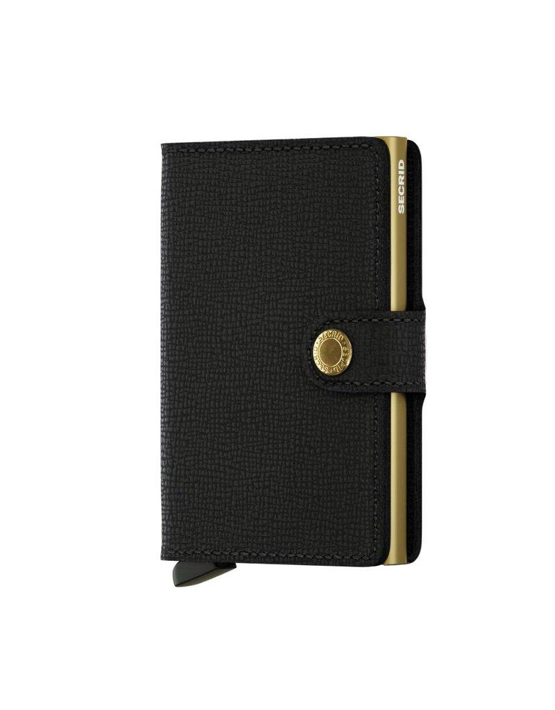 Secrid Miniwallet Crisple Black Gold - MC-Black-Gold