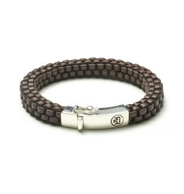 Rebel&Rose Braided square-19.5cm earth brown - rr-l0007-s-19.5