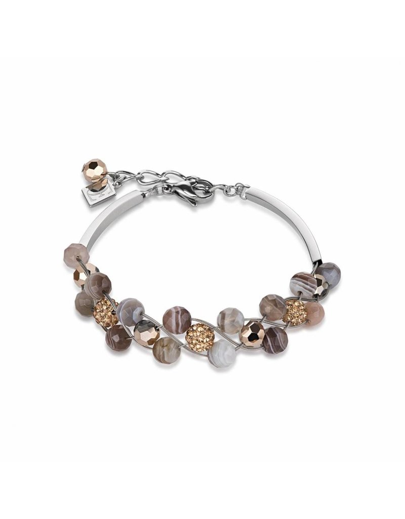 Coeur de Lion Bracelet Brown-Grey - 4895/30-1112