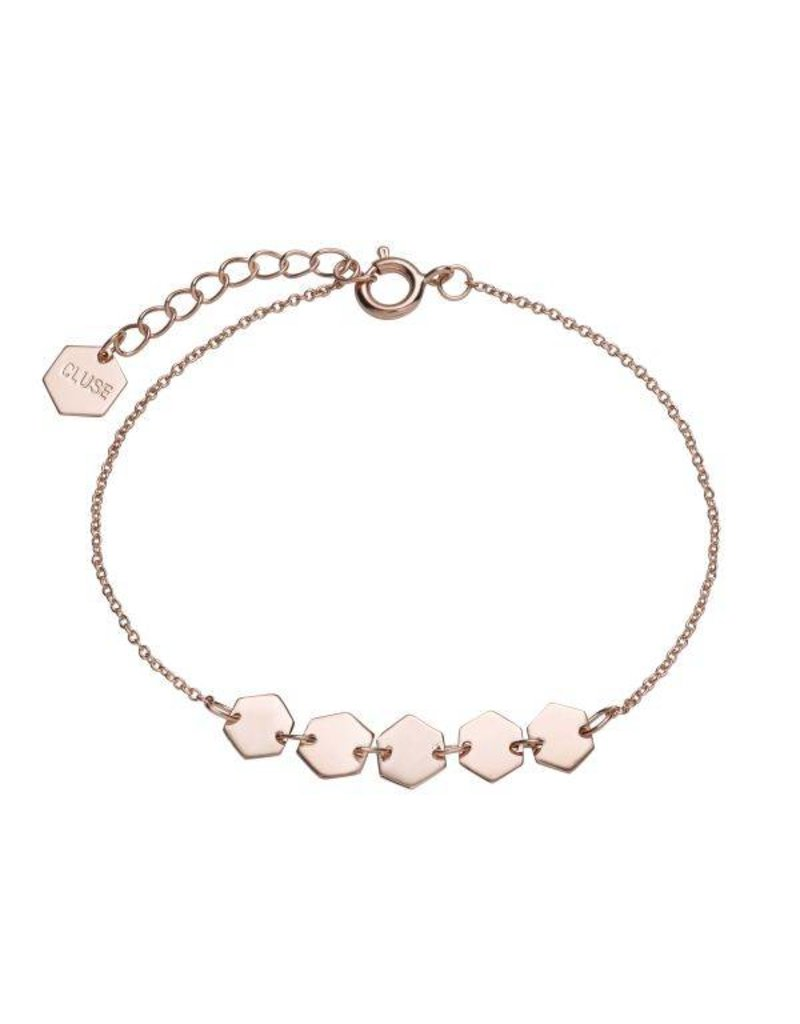 Cluse Essentielle Rose Gold Hexagons Bracelet - CLJ10007