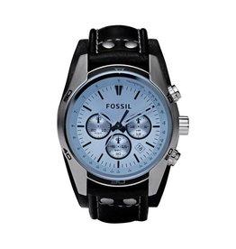 Fossil horloges Sport Cuff Horloge Leer – Zwart - CH2564