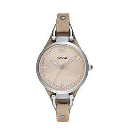 Fossil horloges Georgia Horloge Leer – Beige - es2830