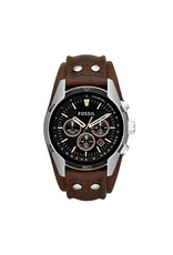 Fossil horloges Lg Rd Slb Blk Strp - CH2891