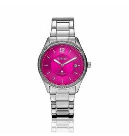 Zinzi horloges Watch Staal Magenta Zirconia - ZIW309