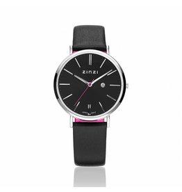 Zinzi horloges Zinzi Retro zwart/zwarte band - ZIW401