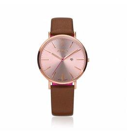 Zinzi horloges Zinzi Retro Rosé Cognac Band - ZIW405