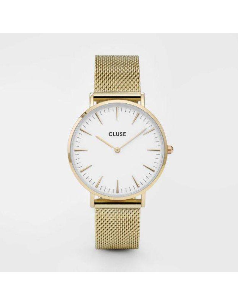 Cluse La Bohème Mesh Gold/White - CL18109