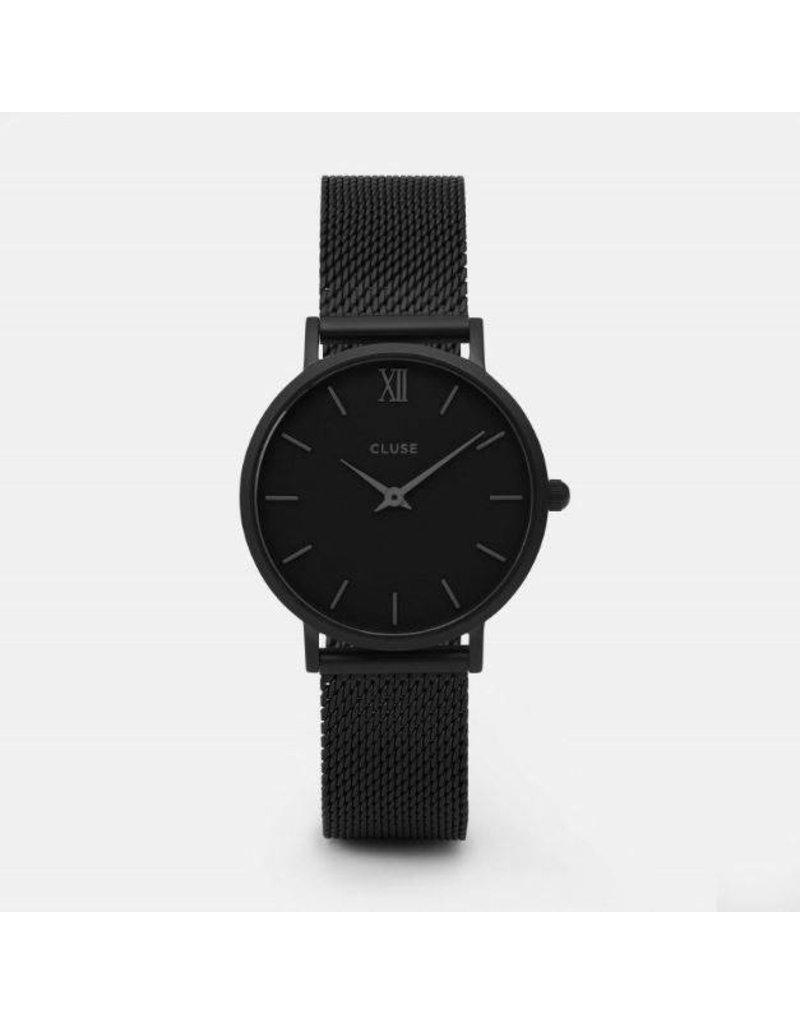Cluse Minuit Mesh Full Black - CL30011