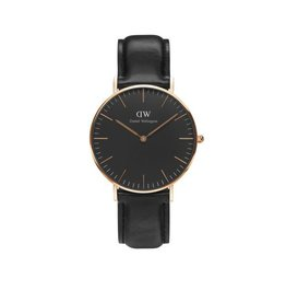 Daniel Wellington Daniel Wellington Watch Black Sheffield 36mm Rose gold DW00100139 - DW00100139