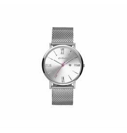 Zinzi horloges Retro Roman Zilver/Wit/Mesh - ZIW502M