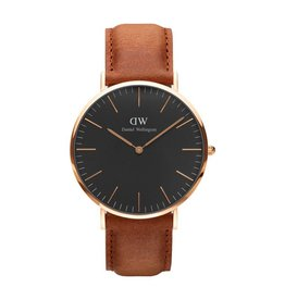 Daniel Wellington Daniel Wellington Watch Black Durham 40mm Rose gold DW00100126 - DW00100126
