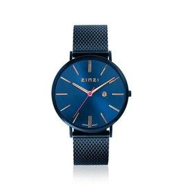 Zinzi horloges Retro Horloge Blauwe Wijzerplaat Blauwe Band - ZIW414M