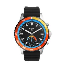 Fossil Smartwatch Lg Rd Slv Blk Strp - FTW1124