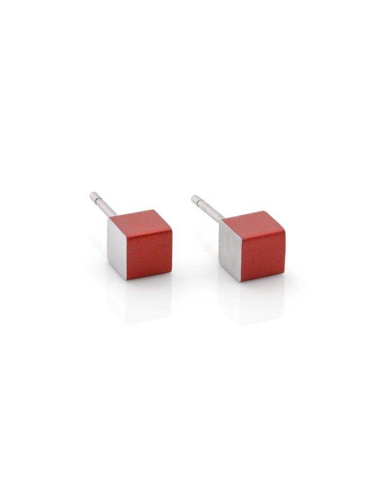 Clic Aluminium Earring Red - O28R