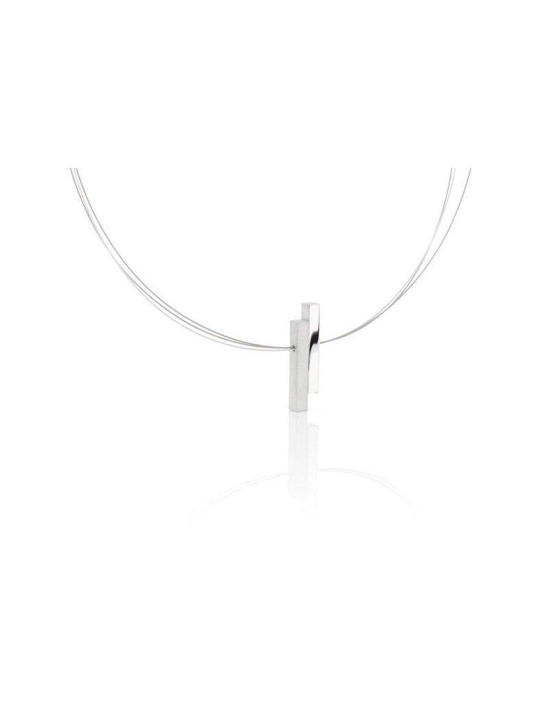 Clic Necklace Aluminium Matte/Polish - C116