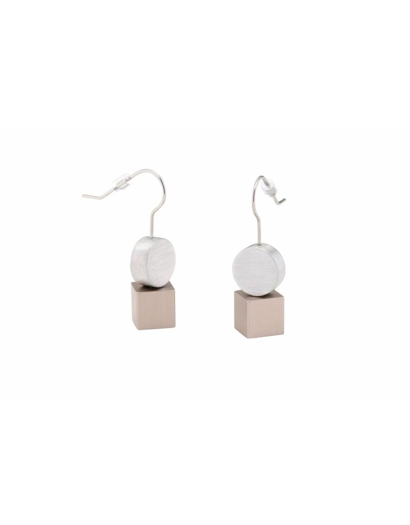 Clic Aluminium Earring Matt/Brown - O33Brown