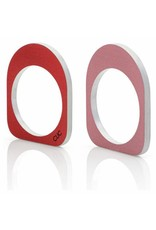 Clic Aluminium Ring Oval Red/Pink - R256.2R