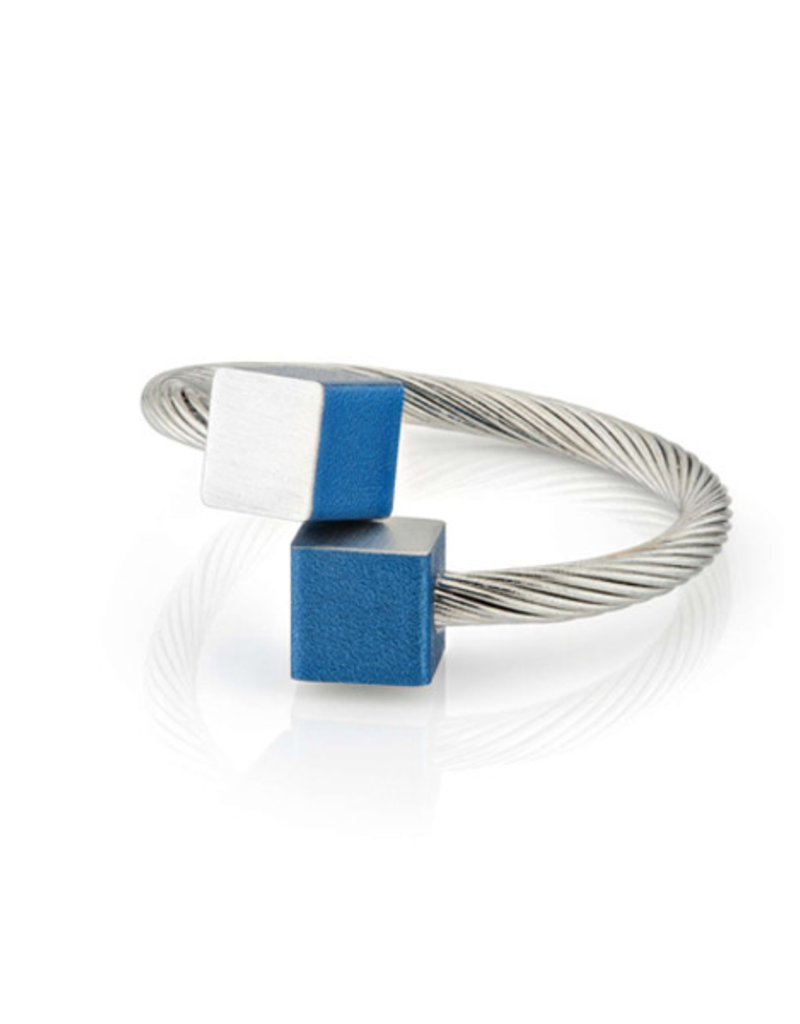 Clic Aluminium Ring Blue/Matte - R4B