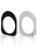 Clic Aluminium Ring Oval Black/Matte  - R256.4Z