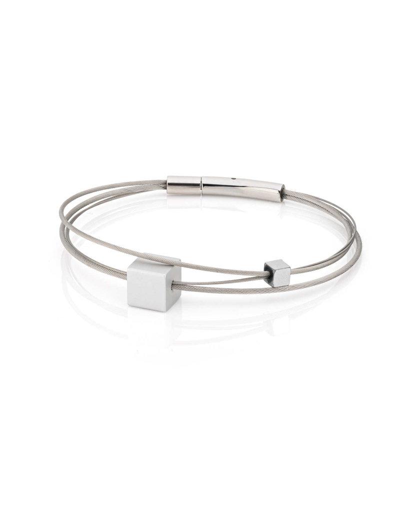 Clic Armband 4 draden kubus - A231