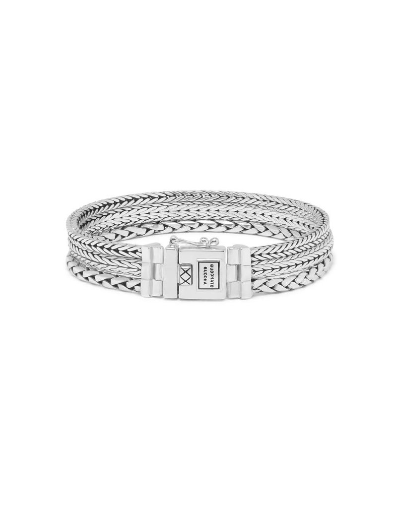 Buddha to Buddha J104 D - Triple Mini Bracelet Silver - J104 D