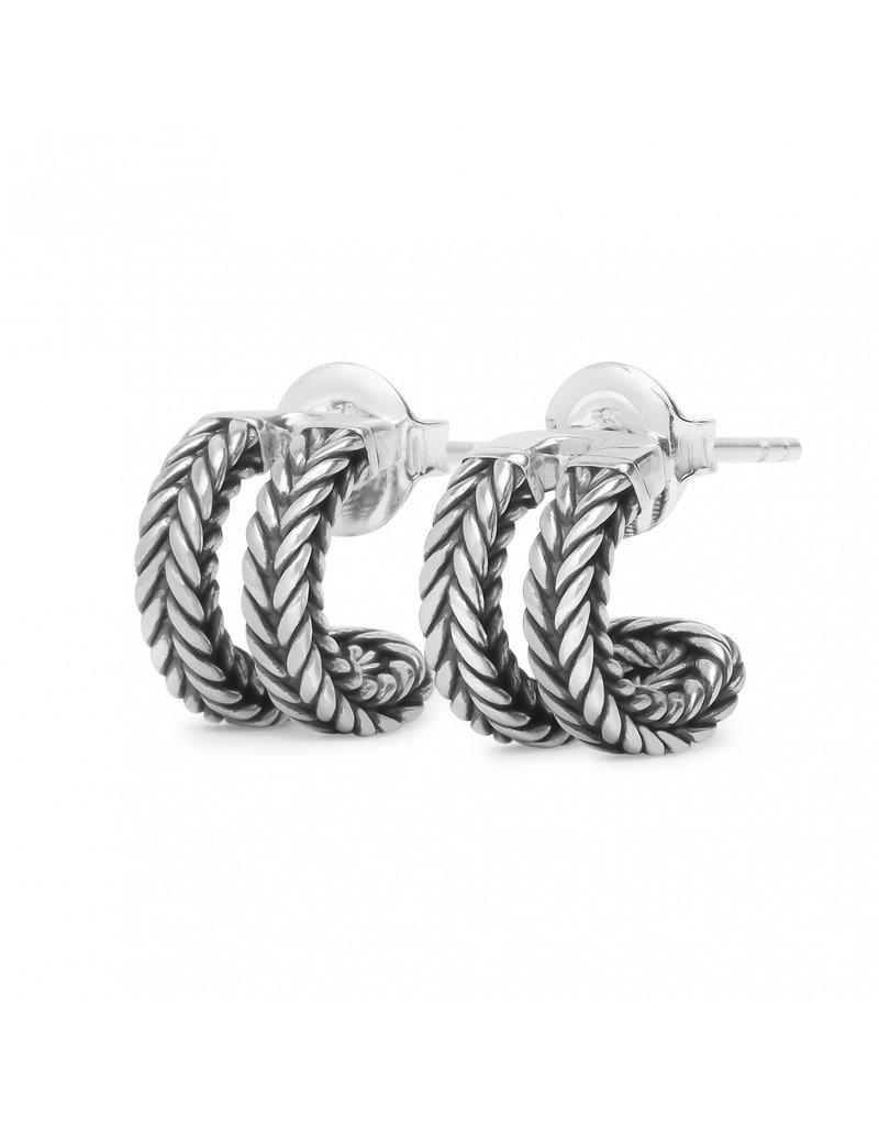Buddha to Buddha 114 one - Barbara Link Earrings Silver - 114 one