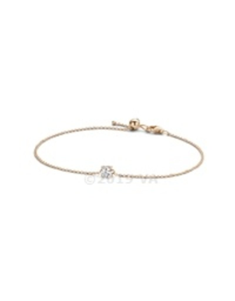 Blush 14 kt Blush Armband one 14K rose gold Cz - 2166RZI