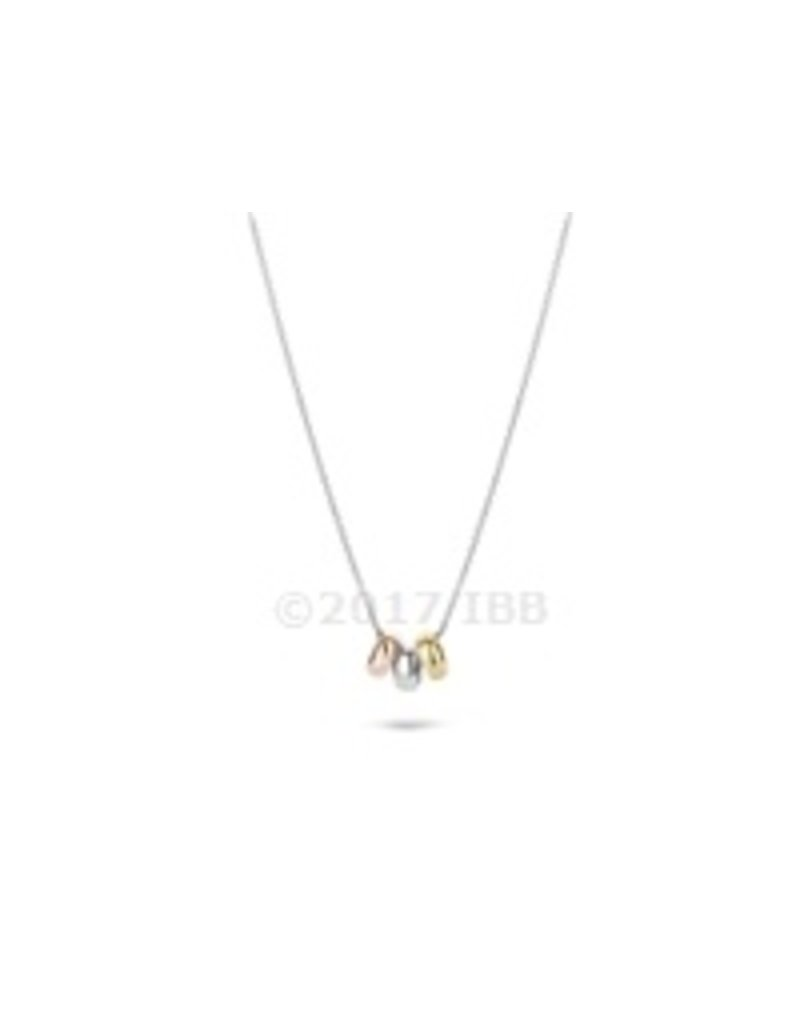 Blush 14 kt Blush Collier one 14K y/w/r gold + wg chain  - 3055WYR