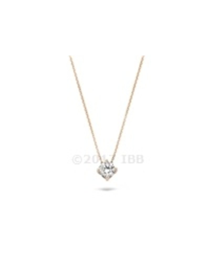 Blush 14 kt Blush Collier one 14K rose gold + rg chain Cz - 3057RZI