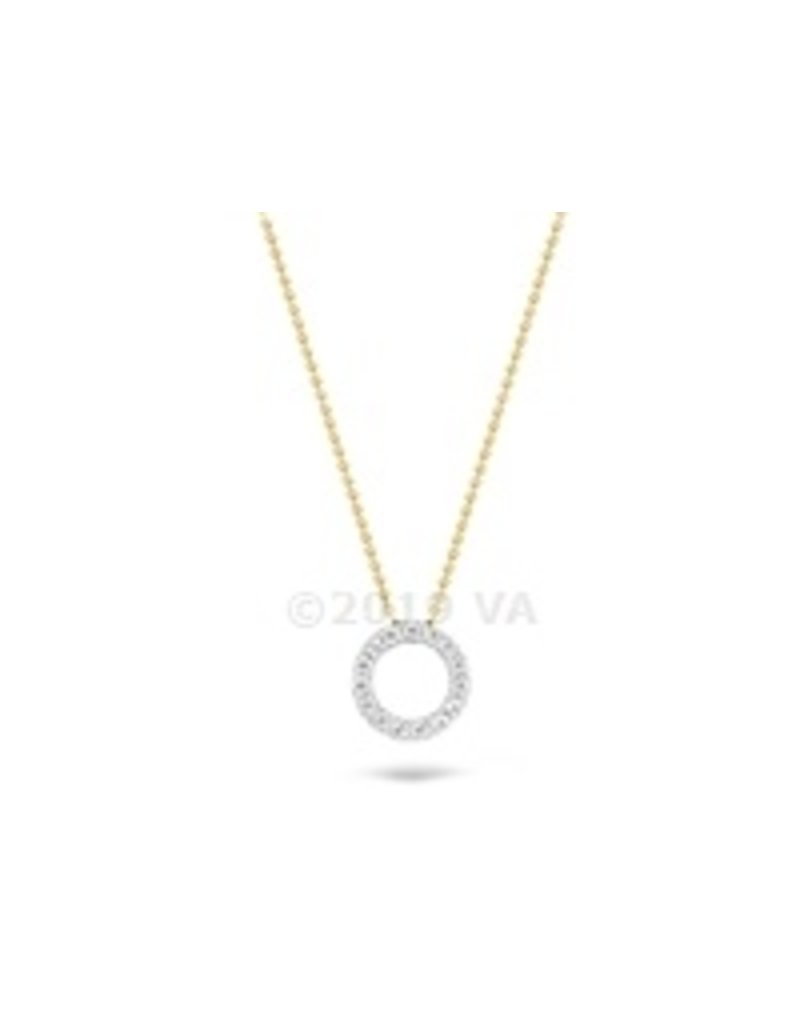 Blush 14 kt Blush Collier one 14K white gold + yg chain Cz - 3065BZI