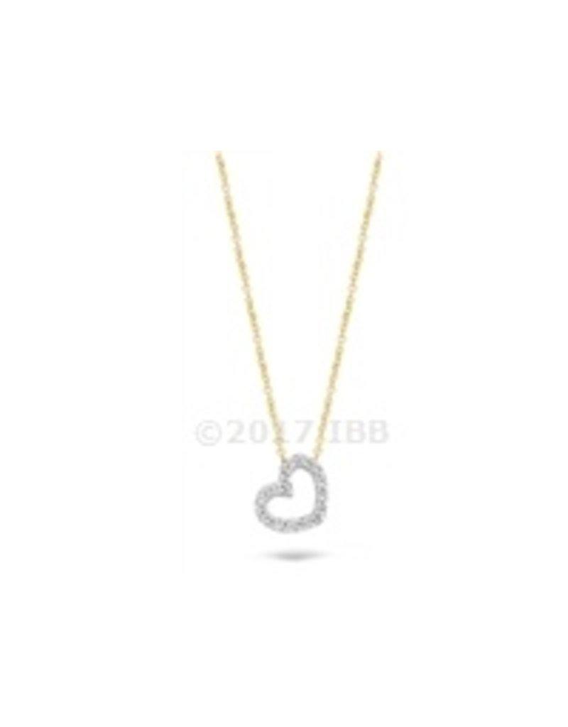 Blush 14 kt Blush Collier one 14K White gold + yg chain Cz - 3072BZI