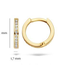Blush 14 kt Blush Diamonds Oorbellen one   Dia. 2x 0.05 - 7614YDI