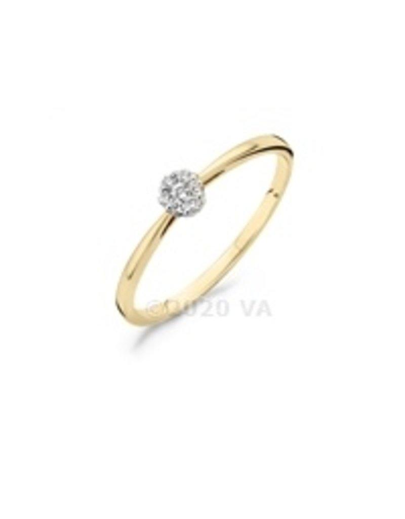 Blush 14 kt Blush Diamonds Ring 54  yellow/white gold Dia. 0.07 - 1609BDI/54
