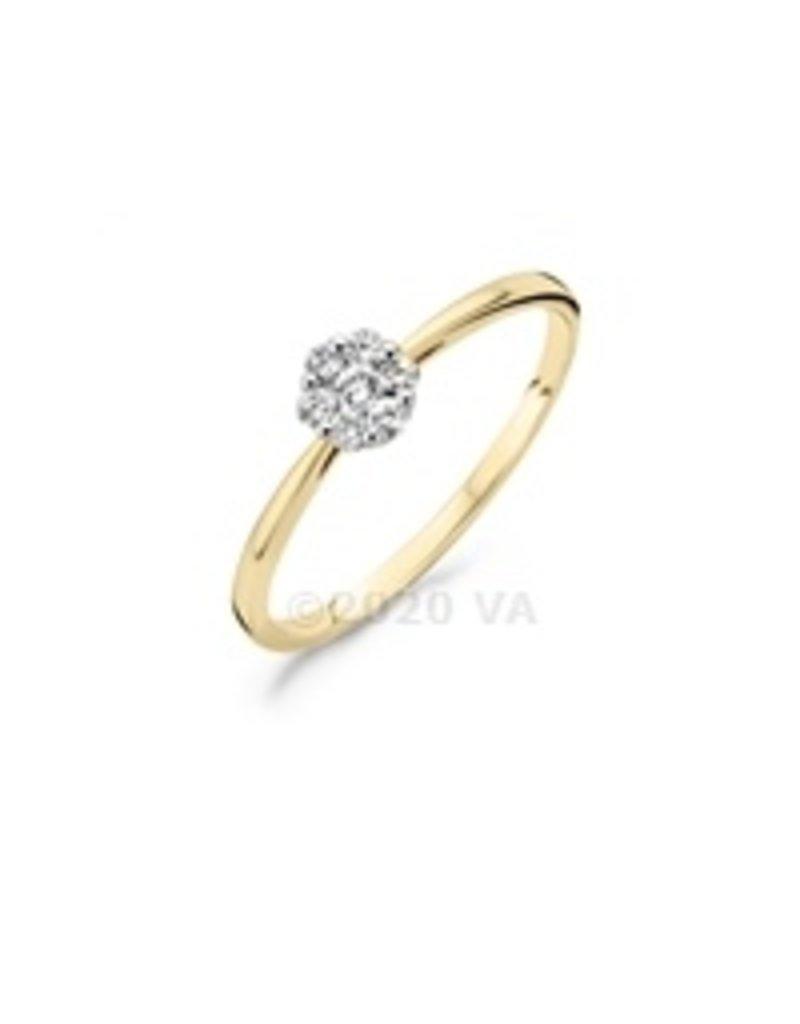 Blush 14 kt Blush Diamonds Ring 52  yellow/white gold Dia. 0.15 - 1611BDI/52